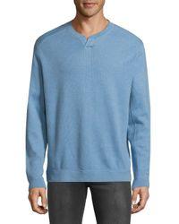 Tommy Bahama - Blue New Flip Side Pro Abaco Splitneck Cotton Sweatshirt for Men - Lyst