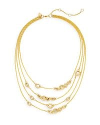 Alexis Bittar - Metallic Elements Moonlight Crystal Multi-strand Station Necklace - Lyst