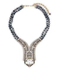 Heidi Daus - Metallic Lux Hematite Statement Necklace - Lyst