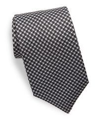 Saks Fifth Avenue | Black Houndstooth Silk Tie for Men | Lyst