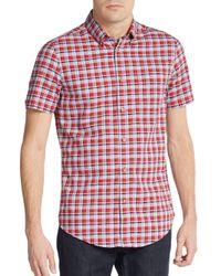 Ben Sherman - Red Slim-fit Plaid Oxford Sportshirt for Men - Lyst