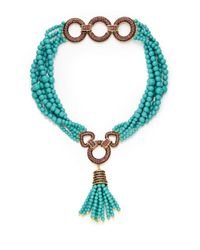 bc2fb33965a23 Heidi Daus Dazzling Versatility Beaded Convertible Necklace in Blue ...