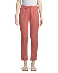 Onia - Red Ella Linen Cotton Coverup Pants - Lyst