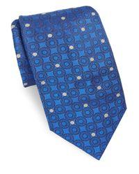 Brioni - Blue Azure Dots Silk Tie for Men - Lyst