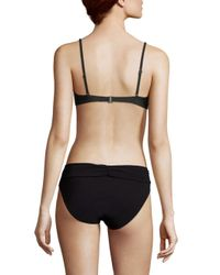 6 Shore Road By Pooja - Black Chloe Mesh Bandeau Bikini Top - Lyst