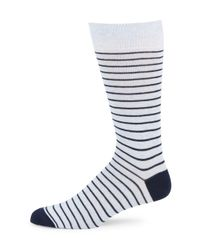 Saks Fifth Avenue - Blue Striped Cotton-blend Socks for Men - Lyst