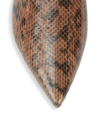 Michael Kors - Brown Darla Animal-print Leather Mules - Lyst
