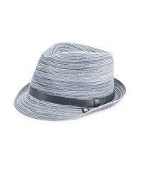 Block Headwear - Blue Braided Straw Hat - Lyst