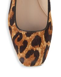 Karl Lagerfeld - Brown Calf Hair & Leather Ballet Flats - Lyst