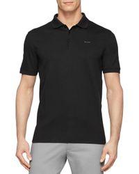 Calvin Klein - Black Cotton Polo Shirt for Men - Lyst