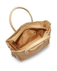 Longchamp - Natural Medium Penelope Leather Tassel Tote - Lyst