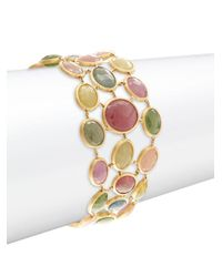 Marco Bicego - Metallic 18k Yellow Gold & Multi-color Sapphire Bracelet - Lyst