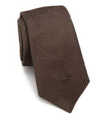 Ike Behar - Brown Chevron Silk Tie for Men - Lyst