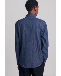 Saturdays NYC - Blue Crosby Button Down Paisley Denim Shirt for Men - Lyst