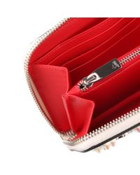 Christian Louboutin - Multicolor Panettone Ivory Leather Logo Studded Wallet - Lyst