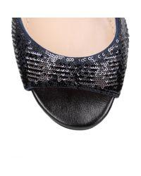 Dior - Black Shade Velvet And Sequin Sandal - Lyst