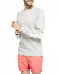 Scotch & Soda - White Poplin Detailed Sweater for Men - Lyst