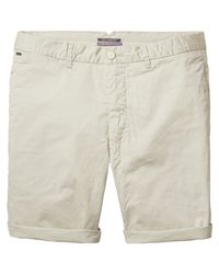 Scotch & Soda - Natural Poplin Chino Shorts for Men - Lyst
