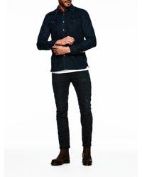 Scotch & Soda - Blue Denim Western Shirt for Men - Lyst