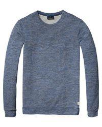 Scotch & Soda   Green Structured Melange Sweatshirt for Men   Lyst