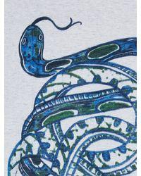 Scotch & Soda - Blue Indigo Printed Tee for Men - Lyst