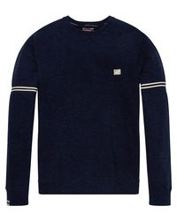 Scotch & Soda - Blue Oversized Melange Sweater for Men - Lyst