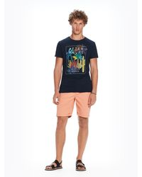 9324db2c7 Lyst - Scotch   Soda Summer T-shirt in Blue for Men