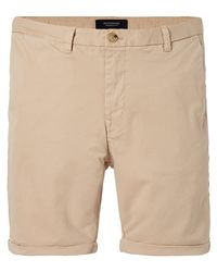 Scotch & Soda - Natural Twill Chino Shorts Medium Length for Men - Lyst