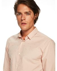 Scotch & Soda - Natural Special Weave Shirt Slim Fit for Men - Lyst