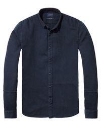 Scotch & Soda - Blue Soft Structured Shirt Slim Fit for Men - Lyst