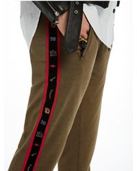Scotch & Soda - Brown Taped Detail Sweat Pants - Lyst