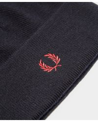 Fred Perry | Blue Merino Wool Beanie for Men | Lyst