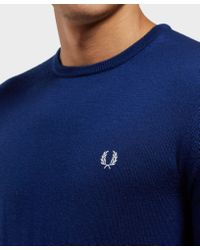 Fred Perry - Blue Merino Knitted Jumper for Men - Lyst