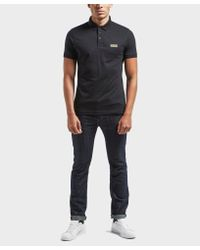Barbour - Black International Small Logo Short Sleeve Polo Shirt for Men - Lyst