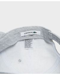 Lacoste - Multicolor Pique Cap for Men - Lyst