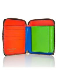 Comme des Garçons - Blue Full Zip Wallet Super Fluo Sa2100sf - Lyst