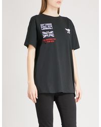 BOY London - Black Concert Cotton-jersey T-shirt - Lyst