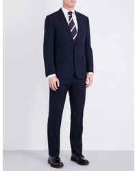 Ralph Lauren Purple Label | Blue Glenplaid-patterned Regular-fit Wool Suit for Men | Lyst