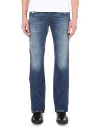 Diesel Zatiny Slim Bootcut Jeans in Black for Men | Lyst