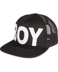 BOY London - Black Mesh Snapback Cap for Men - Lyst