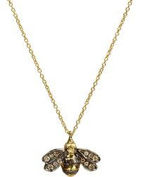 Annoushka   Love Diamonds 18ct Yellow-gold Bee Pendant Necklace   Lyst
