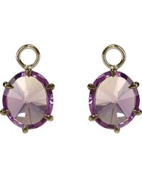 Annoushka | Metallic 18ct White-gold And Amethyst Earring Drops | Lyst