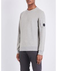 C P Company | Gray Lens-detail Cotton-jersey Sweatshirt for Men | Lyst