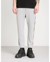 The Kooples - Gray Panel Striped Jersey Jogging Bottoms for Men - Lyst