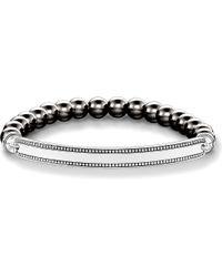 Thomas Sabo - Metallic Love Bridge Haematite And Silver Bracelet - Lyst