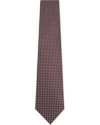 Ermenegildo Zegna - Red Diamond And Squares Silk Tie for Men - Lyst