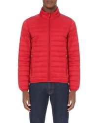 Armani Jeans - Red Quilted Shell Jacket for Men - Lyst