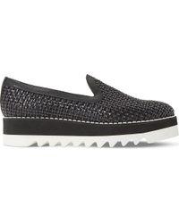 Dune Black | Black Gloat Woven Leather Flatform Shoes | Lyst
