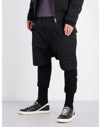 Rick Owens | Black Cargo Cotton-blend Shorts for Men | Lyst