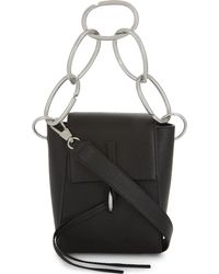 3.1 Phillip Lim - Black Leigh Chain-link Leather Shoulder Bag - Lyst